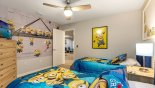 Bedroom #7 with twin beds & Minions theming with this Orlando Villa for rent direct from owner