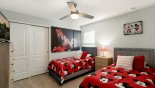 Bedroom #6 with twin beds & Micky & Minnie Mouse theming from Baymont 4 Villa for rent in Orlando