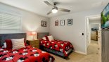 Villa rentals in Orlando, check out the Bedroom #6 with Smart TV