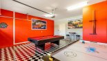 Games room with pool table, air hockey & dart board from Baymont 4 Villa for rent in Orlando