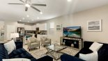 """Spacious rental Windsor at Westside Villa in Orlando complete with stunning Family room with a 65"""" Smart TV"""