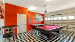 """Villa rentals in Orlando, check out the Games room with American """"diner"""" theme"""