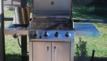 Complimentary 4 burner stainless steel gas BBQ for our guests use from Windsor at Westside rental Villa direct from owner