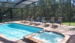 Baymont 4 Villa rental near Disney with South-east facing extended deck with pool & spa enjoying conservation views