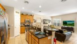 Naples Beach 3 Villa rental near Disney with View of open plan living space from entrance hallway