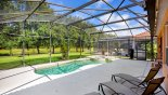 Villa rentals near Disney direct with owner, check out the View of pool & spa from the sun loungers
