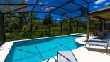 Large south facing pool deck with conservation views with this Orlando Villa for rent direct from owner