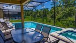Bimini 5 Villa rental near Disney with Covered lanai with glass topped patio table & 6 chairs