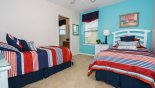 Villa rentals near Disney direct with owner, check out the Bedroom #4 viewed towards Jack & Jill bathroom #3