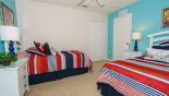 Bedroom #4 with twin beds - www.iwantavilla.com is the best in Orlando vacation Villa rentals