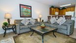 Villa rentals near Disney direct with owner, check out the View of family room towards kitchen