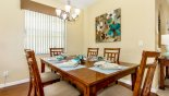 Villa rentals in Orlando, check out the Dining area with seating for 6 persons