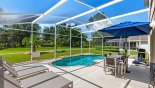 Pool deck with pleasant views with this Orlando Villa for rent direct from owner
