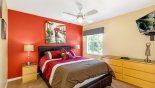 Villa rentals in Orlando, check out the Bedroom #5 with wall mounted 32