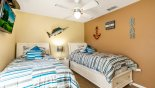 Bedroom #3 with twin sized beds from Highlands Reserve rental Villa direct from owner