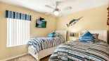 Orlando Villa for rent direct from owner, check out the Bedroom #3 with wall mounted 32