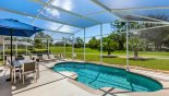 Villa rentals in Orlando, check out the Sunny south-east facing pool with views onto the 9th hole
