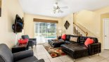 Family room with views and direct access onto pool deck - www.iwantavilla.com is your first choice of Villa rentals in Orlando direct with owner