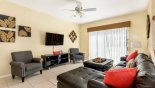 Villa rentals near Disney direct with owner, check out the Family room with wall mounted 50