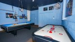 Games room with pool table, & air hockey with this Orlando Villa for rent direct from owner