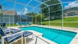 Sunny north-east facing pool with 6 sun loungers - www.iwantavilla.com is your first choice of Villa rentals in Orlando direct with owner