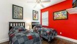 Jasmine 3 Villa rental near Disney with Bedroom #3 with twin beds & Disney theming