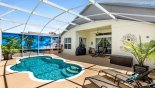 Villa rentals near Disney direct with owner, check out the View of lanai from sun loungers