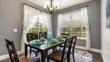 Villa rentals in Orlando, check out the Dining area with sliding door access onto pool deck