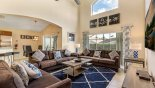 Spacious rental Lake Berkley Resort Villa in Orlando complete with stunning Family room with comfortable seating to watch the TV