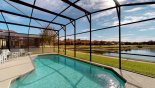 Orlando Villa for rent direct from owner, check out the Sunny south west facing pool with splendid lake views