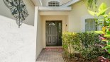 Villa rentals near Disney direct with owner, check out the The welcoming entrance as you arrive at the villa
