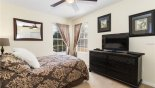 Orlando Villa for rent direct from owner, check out the Bedroom #3 with sumptuous queen bed,  chest of drawers with LCD cable TV