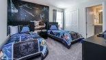 Bedroom #5 with access to Jack & Jill bathroom #4 - www.iwantavilla.com is the best in Orlando vacation Villa rentals