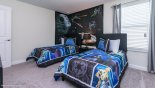 Spacious rental Champions Gate Villa in Orlando complete with stunning Bedroom #5 with twin beds & Star Wars theming