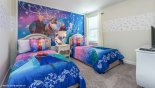 Bedroom #3 with twin sized beds & Disney Frozen theming from Champions Gate rental Villa direct from owner