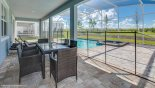 Villa rentals in Orlando, check out the Covered lanai provides comfortable outside space offering welcome shade