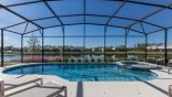Beautiful sundrenched west facing pool deck with lake views with this Orlando Villa for rent direct from owner