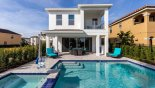 Orlando Villa for rent direct from owner, check out the Pool deck with 2 comfortable sun loungers