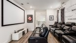 Orlando Villa for rent direct from owner, check out the Home cinema with reclining leather armchairs - relax & watch a movie in comfort
