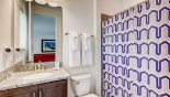 Villa rentals in Orlando, check out the Ensuite bathroom #3 with bath & shower over, single vanity & WC