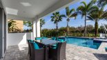 Covered lanai with patio table & 6 chairs from Reunion Resort rental Villa direct from owner