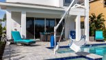 Pool hoist for accessible need guests - enables access to pool & spa with this Orlando Villa for rent direct from owner