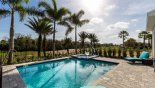 Villa rentals in Orlando, check out the Sunny east facing pool & spa with golf course views