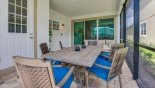 Patio table with 6 comfortable chairs from Solara Resort rental Villa direct from owner