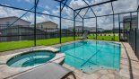 View of pool & spa with this Orlando Villa for rent direct from owner