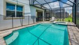 Pool deck with 2 sun loungers from Malibu + 1 Villa for rent in Orlando