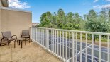 Townhouse rentals near Disney direct with owner, check out the Private balcony off master bedroom with 2 chairs