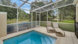 Plunge pool with conservation views & 2 sun loungers with this Orlando Townhouse for rent direct from owner