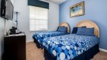 Bedroom #3 with twin beds - www.iwantavilla.com is your first choice of Condo rentals in Orlando direct with owner
