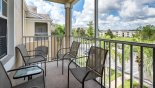 Screened balcony with views over resort from Windsor Palms rental Condo direct from owner